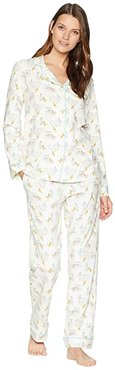 Classic Notch Collar Pajama Set (Holly's Cats) Women's Pajama Sets