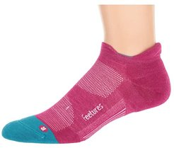 Merino 10 Cushion No Show Tab (Quasar Pink) No Show Socks Shoes