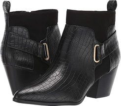 Elektra II (Black Faux Croco/Super Suede) Women's Shoes