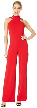 Choker Neck Jumpsuit (Red) Women's Jumpsuit & Rompers One Piece