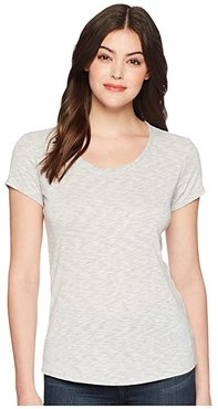 Aspira Short Sleeve Shirt (Mist) Women's Short Sleeve Pullover