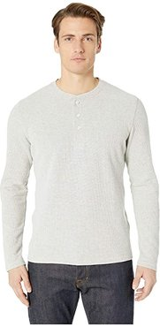 Brushed Rib Henley (Natural) Men's Clothing