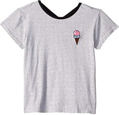 Casey Tee (Toddler/Little Kids/Big Kids) (Candy Stripe) Girl's Clothing