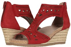 Barbuda (Bright Red Soft Buck) Women's Wedge Shoes