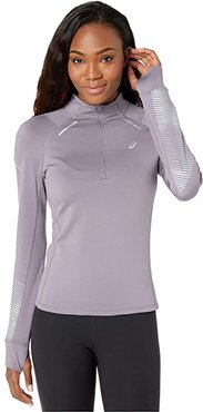 Lite-Showtm 2 Winter Long Sleeve 1/2 Zip Top (Lavender Grey) Women's Clothing