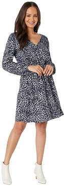 Smocked Wrap Dress (Moonlight) Women's Clothing