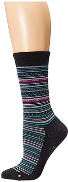 Santa Fe Ultra Light Crew (Charcoal) Women's Crew Cut Socks Shoes