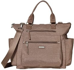 New Classic 3-in-1 Convertible Backpack with RFID Phone Wristlet (Portobello Shimmer) Backpack Bags