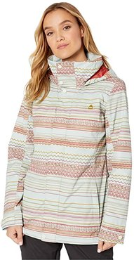 Jet Set Jacket (Aqua Gray Revel Stripe) Women's Coat