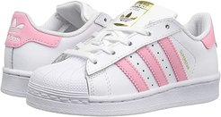 Superstar (Little Kid) (White/Pink) Girls Shoes