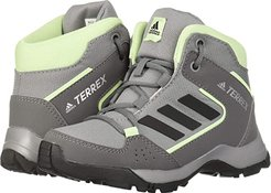 Hyperhiker (Little Kid/Big Kid) (Grey Three/Black/Glow Green) Kids Shoes