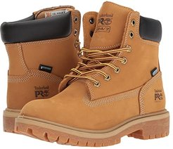 Direct Attach 6 Steel Safety Toe Waterproof Insulated (Wheat Nubuck Leather) Women's Work Lace-up Boots