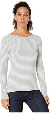 Kickback Henley II (Light Pewter Stripe) Women's T Shirt