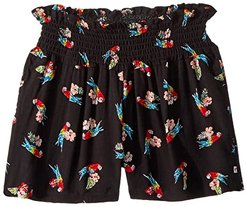 Malibu Shorts (Toddler/Little Kids/Big Kids) (Flower Parrot) Girl's Shorts