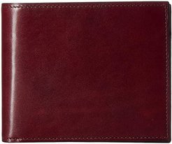 Old Leather Euro RFID Executive Wallet w/ Coin Pocket (Brown) Handbags