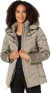 Sun Valley Down Jacket (Taupe) Women's Clothing