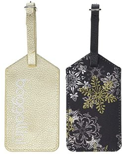 2-Pack ID Luggage Tag (Frosted Black Multi) Luggage