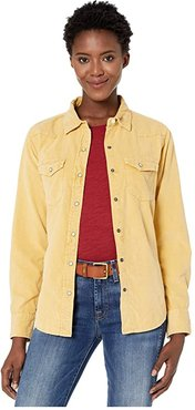 Snowcap Cord Jackson Long Sleeve Shirt with Snap Buttons (Yellow) Women's Clothing