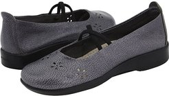 Flower (Pewter Leather) Women's Maryjane Shoes