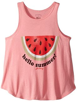 Hello Summer Tank (Little Kids/Big Kids) (Party Pink) Girl's Clothing