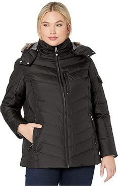 Plus Size Sun Valley Down Jacket (Black) Women's Clothing