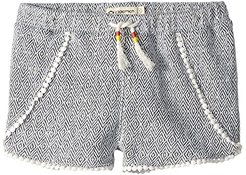 Tao Shorts (Toddler/Little Kids/Big Kids) (Black Rhombus) Girl's Shorts