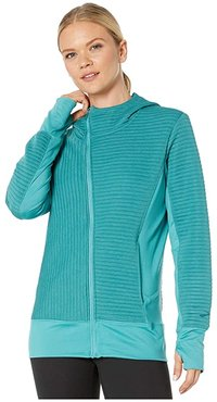 Fly-By Hoodie (Teal) Women's Clothing