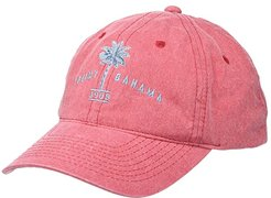 Unstructured Garment Washed Twill Baseball Cap (Red) Caps