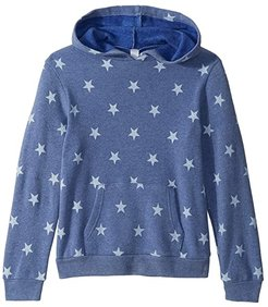 Challenger Eco-Fleece Pullover Hoodie (Big Kids) (Pacific Blue Stars) Kid's Clothing