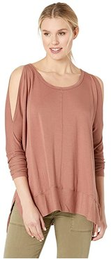 Andreea Top with Side Slits (Burl Wood) Women's Clothing