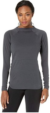 Climb The City Wool Crew (Carbon 2) Women's Long Sleeve Pullover