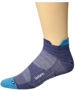 Merino 10 Ultra Light No Show Tab (Sapphire) No Show Socks Shoes