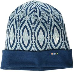 NTS Mid 250 Reversible Pattern Cuffed Beanie (Nile Blue Medallion) Beanies