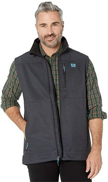 Textured Bonded Vest (Charcoal) Men's Clothing