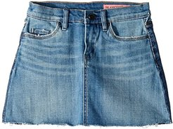 Two-Tone Denim Wash Mini Skirt in Two Faced (Big Kids) (Two Faced) Girl's Skirt