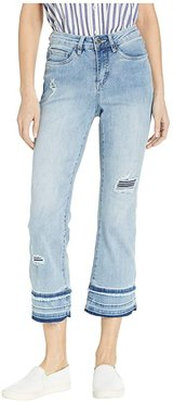 Statement Denim Olivia Slight Flare Crop in Light Chambray (Light Chambray) Women's Jeans