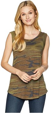 Cap Sleeve Printed Eco-Jersey Crew T-Shirt (Camo) Women's Clothing
