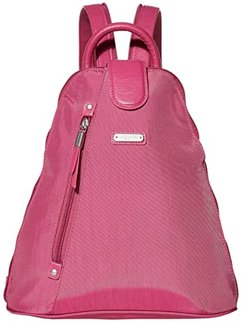 New Classic Metro Backpack with RFID Phone Wristlet (Deep Fuchsia) Backpack Bags