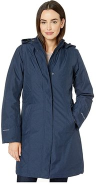 Girl On The Go Insulated Trench Coat (Deep Indigo) Women's Clothing