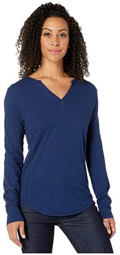 Mountain Henley (Twilight Blue) Women's T Shirt
