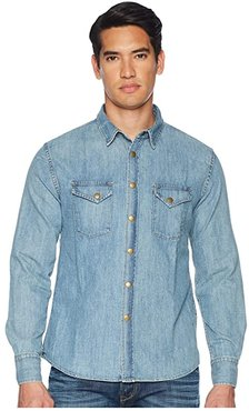 Distressed Denim Shirt (Rinse Wash) Men's Clothing