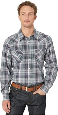Long Sleeve Plaid Modern Fit (Multi 1) Men's Clothing