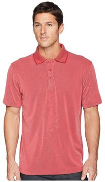 Short Sleeve Polynosic Polo (Ruby) Men's Clothing