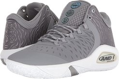 Attack Mid (Alloy/Super Foil/White) Men's Basketball Shoes