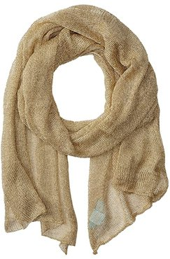 Blue by Betsey Love Liquid Mesh Wrap (Gold) Scarves
