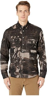 Charles Shirt (Black/Brown) Men's Clothing