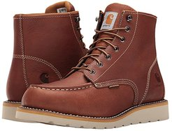 6-Inch Non-Safety Toe Wedge Boot (Tan Oil Tanned Leather) Men's Work Boots