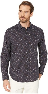 Arcade Tailored Fit Sport Shirt (Navy) Men's Clothing