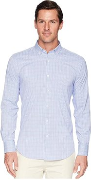 Long Sleeve Woven Shirt Shaped Fit (Pink) Men's Clothing