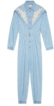 Denim jumpsuit with NY Yankees™ patch